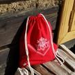 folk batoh červená
