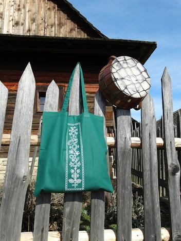 folk taška zelená