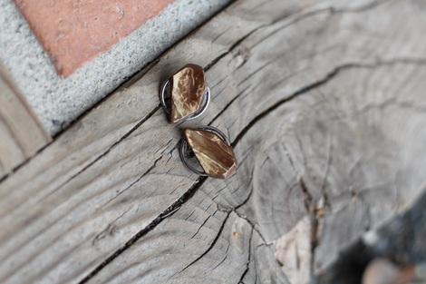 Maite - náušnice z kokosové pecky č.1