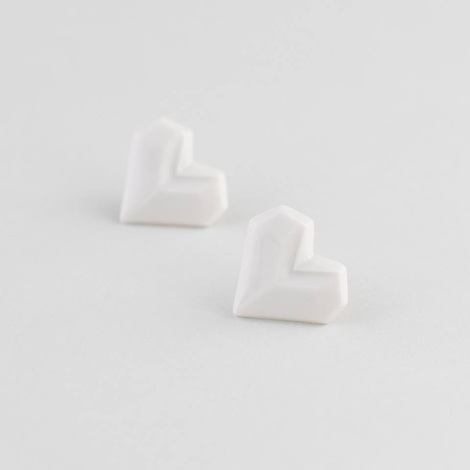 náušnice srdce - STEHLÍK design