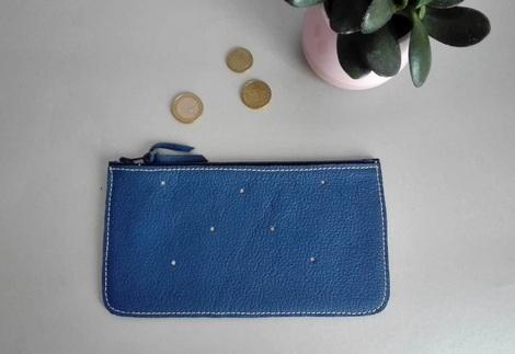 peněženka modrá